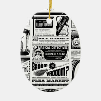 Ornamento De Cerâmica jornal assustador