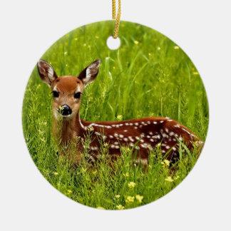 Ornamento De Cerâmica Jovem corça dos cervos do bebê