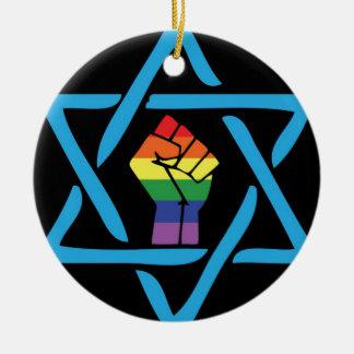 Ornamento De Cerâmica Judaico preto alegre