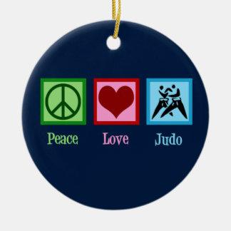 Ornamento De Cerâmica Judo do amor da paz