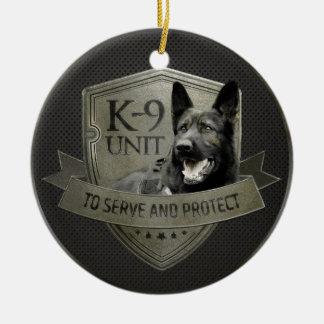 Ornamento De Cerâmica K-9 unidade GSD - cão de german shepherd de