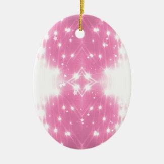 Ornamento De Cerâmica Kaleidasope Sparkling cor-de-rosa