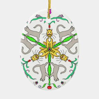 Ornamento De Cerâmica Kaliedoscope do gato