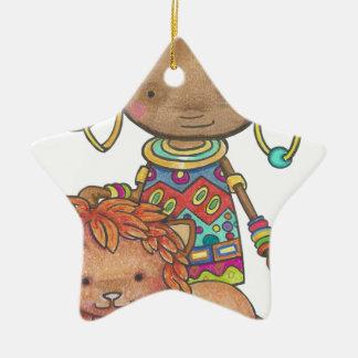 Ornamento De Cerâmica Kana a princesa Africana