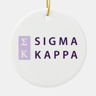 Ornamento De Cerâmica Kappa do Sigma empilhado