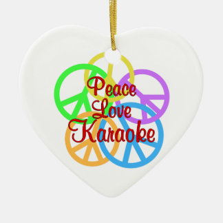 Ornamento De Cerâmica Karaoke do amor da paz