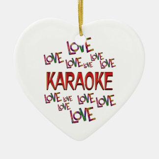 Ornamento De Cerâmica Karaoke do amor do amor