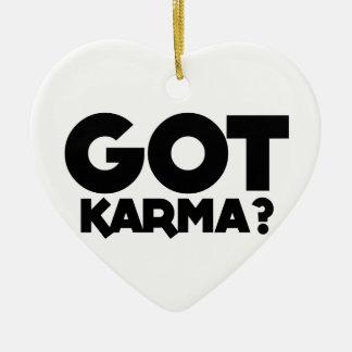 Ornamento De Cerâmica Karmas obtidas, palavras do texto