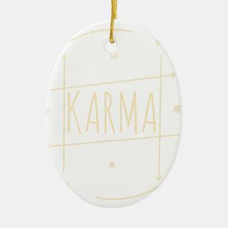 Ornamento De Cerâmica Karmas (para o fundo escuro)