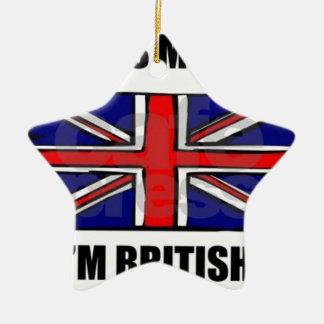 Ornamento De Cerâmica kiss_me_im_british