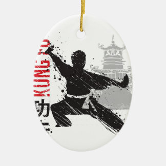 Ornamento De Cerâmica Kung Fu