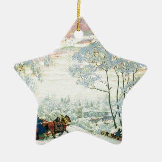 Ornamento De Cerâmica _Kustodiev do inverno.