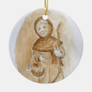 Ornamento De Cerâmica La Befana