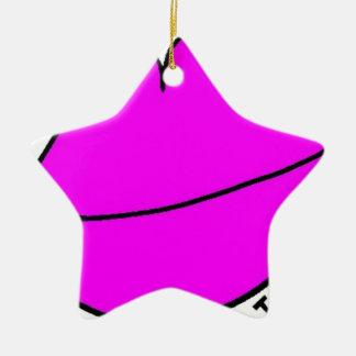 Ornamento De Cerâmica Lábios cor-de-rosa
