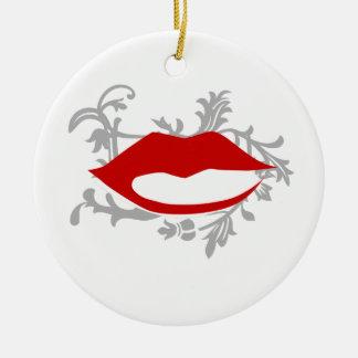 Ornamento De Cerâmica lábios gráficos