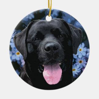 Ornamento De Cerâmica Labrador preto - esqueça-me não