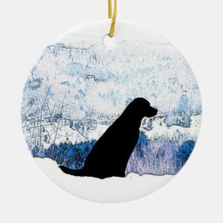 Ornamento De Cerâmica Labrador preto - Mountain View