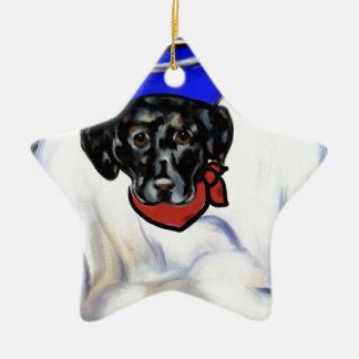 Ornamento De Cerâmica Labrador retriever preto
