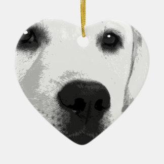 Ornamento De Cerâmica Labrador retriever preto e branco