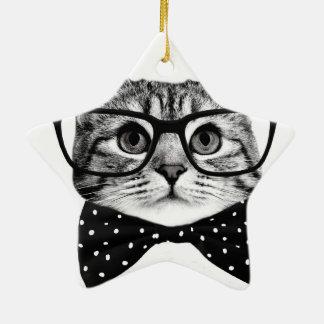 Ornamento De Cerâmica laço do gato - gato dos vidros - gato de vidro