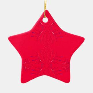 Ornamento De Cerâmica Laço do vermelho dos elementos do design