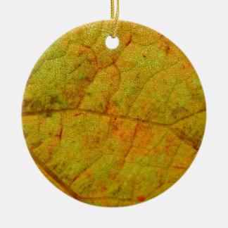Ornamento De Cerâmica Lado de baixo da folha da uva