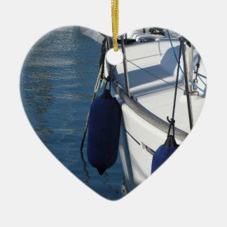 Ornamento De Cerâmica Lado esquerdo do barco de navigação com os dois