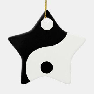 Ornamento De Cerâmica Lados de Yin e de Yang