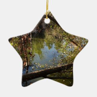 Ornamento De Cerâmica Lago 4 park da garganta de Franklin