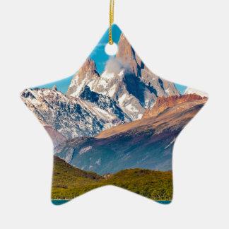 Ornamento De Cerâmica Lago e montanhas de Andes, Patagonia - Argentina
