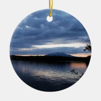 Ornamento De Cerâmica Lago Maine Katahdin Millinocket da montagem no
