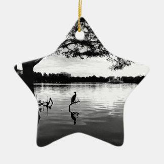 Ornamento De Cerâmica Lago morning