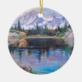 Ornamento De Cerâmica Lago mountain
