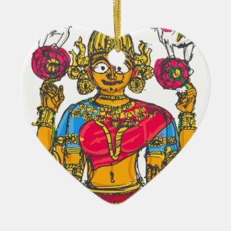 Ornamento De Cerâmica Lakshmi/Shridebi na pose da meditação