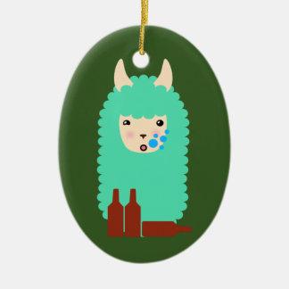Ornamento De Cerâmica Lama bêbedo de Emoji