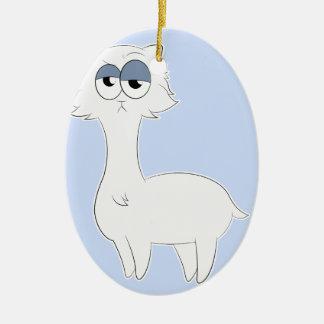 Ornamento De Cerâmica Lama mal-humorado do gato persa