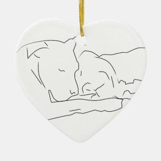 Ornamento De Cerâmica Lamentàvel no amor