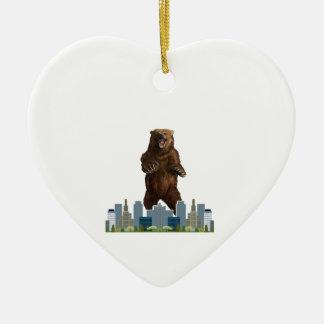 Ornamento De Cerâmica Lançamento do urso