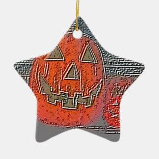 Ornamento De Cerâmica Lanterna de Jack-o