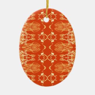 Ornamento De Cerâmica laranja