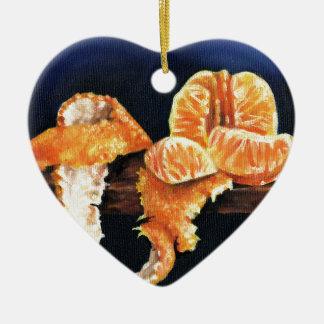 Ornamento De Cerâmica Laranja, descascada