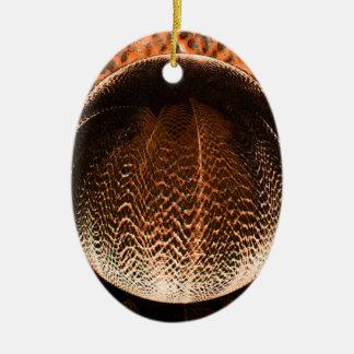 Ornamento De Cerâmica Laranja no globo de cristal