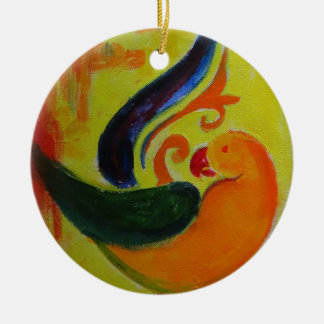 Ornamento De Cerâmica laranja tropical