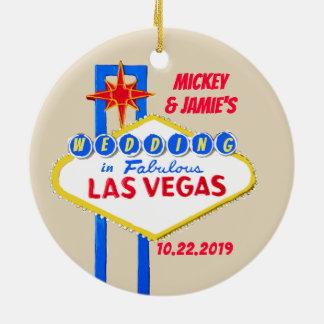 Ornamento De Cerâmica Las Vegas personalizou economias a data