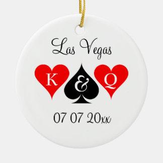 Ornamento De Cerâmica Las Vegas que wedding a árvore de Natal feita sob