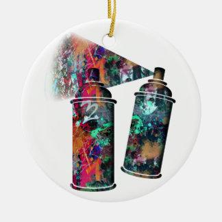 Ornamento De Cerâmica Latas de pulverizador do Splatter dos grafites e