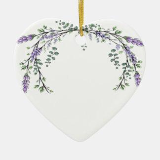 Ornamento De Cerâmica Lavanda e eucalipto