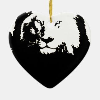 Ornamento De Cerâmica Leão