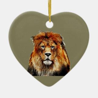 Ornamento De Cerâmica Leão africano