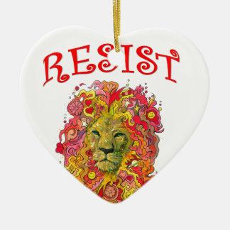 Ornamento De Cerâmica Leão da resistência